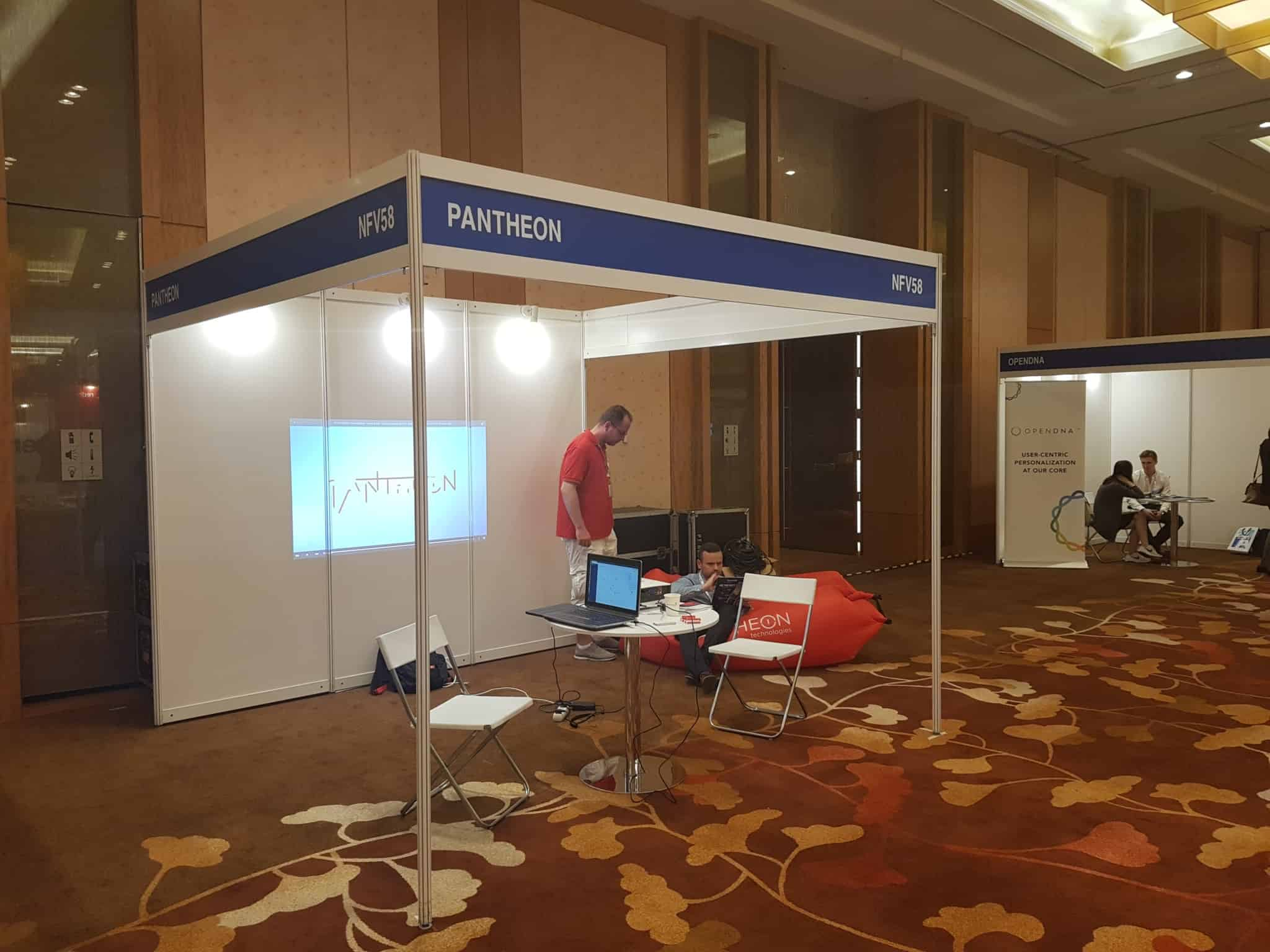 Singapore event - building Pantheon stall