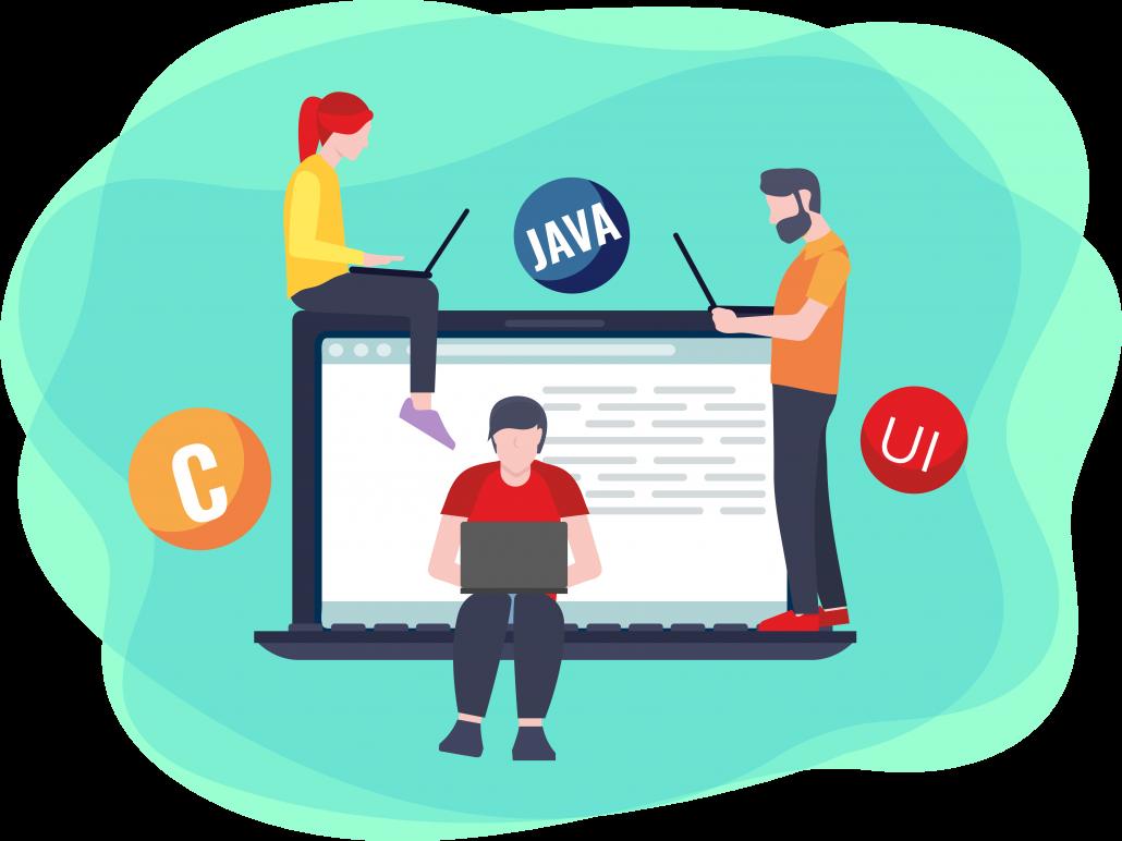 Java developer drawing